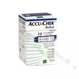 ACCU-CHEK AVIVA 10 U TIRAS REACTIVAS GLUCEMIA