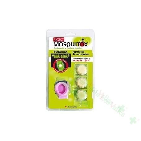 MOSQUITOX PULSERA AJUSTABLE C/ 2 PASTILLAS REPELENTES