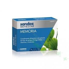 SANDOZ BIENESTAR MEMORIA 30 CAPS