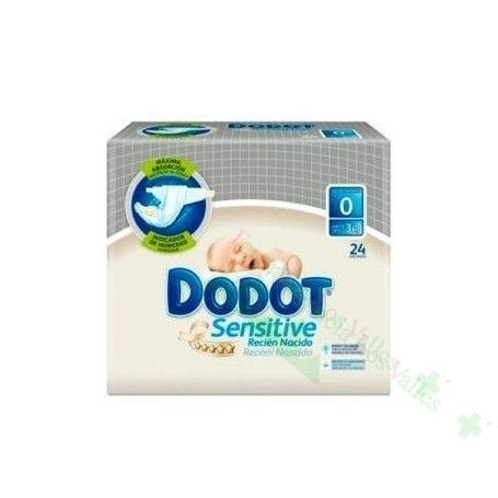 PAÑAL INFANTIL DODOT RECIEN NACIDO PRO SENSITIVE T- 0 3 KG 38 U