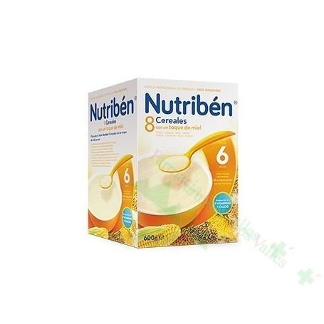NUTRIBEN PAP 8 CEREALES MIEL 600 G