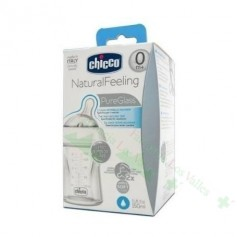 BIBERON CHICCO CRISTAL SILICONA NATURAL FEELING 150 ML