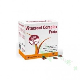 VITACRECIL COMPLEX FORTE CAPS 180 CAPS + CHAMPU ANTICAIDA 200ML (DE REGALO)