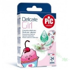 APOSITO ADHESIVO PIC KIDS GIRL DELICATE 19X72MM 24UDS BACTERICIDA