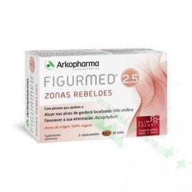 ARKODIET FIGURMED 2.5 ZONAS REBELDES 60 CAPS (REDUCE CELULITIS Y GRASA LOCALIZADA)