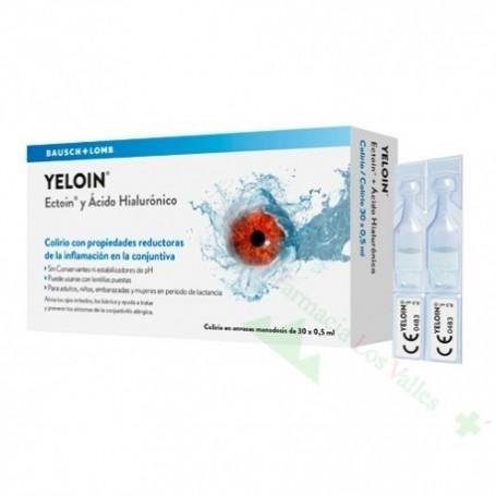 YELOIN COLIRIO MONODOSIS 0,5 ML 30 U (INFLAMACION OJO)