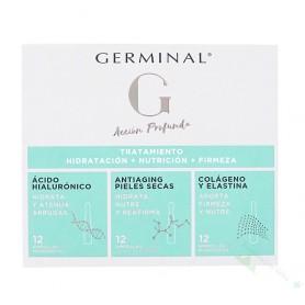 GERMINAL ACCION PROFUNDA HIDRAT+NUTRIC+FIRMEZA TTO.AMPOLLAS 12+12+12 UD