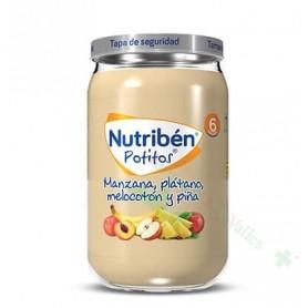 NUTRIBEN MANZANA PLATANO MELOCOTON Y PIÑA POTITO 235 G(BAJA)