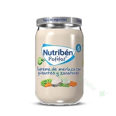 NUTRIBEN 235G SUPREMA MERLUZA GUISANTES ZANAHORIA