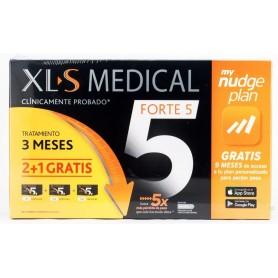 XLS MEDICAL FORTE5 PACK 3 MESES (2+1 DE REGALO) 540 CAPS