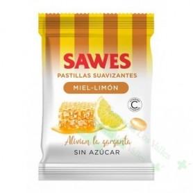 SAWES MIEL-LIMON S/AZUCAR BOLSA 50 G PASTILLAS SUAVIZANTES